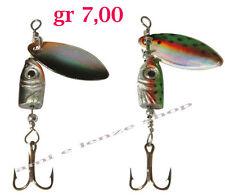 2 cucchiaini pesca spinning cucchiaino rotante esca artificiale trota cavedano