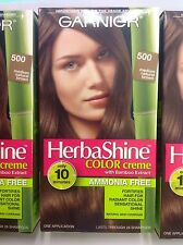3 X Garnier Herbashine Haircolor Creme ( #500 Medium Natural Brown )AMMONIA FREE