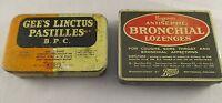 Vintage Retro Boots Lozenges Tins - Regesan & Gees  Bronchial Lozenges -1950s