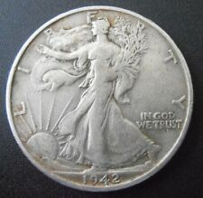 1942 S Walking Liberty Silver Half Dollar, Low Mintage coin (42SUE1)