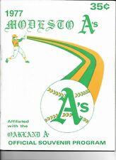 Rickey Henderson 1977 Modesto A's Offical Souvenir Program