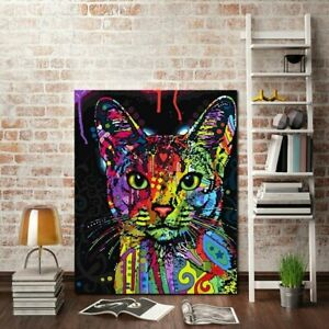 Painting Pictures Home Decor Art Poster On The Wall Cat Modern Abstracts