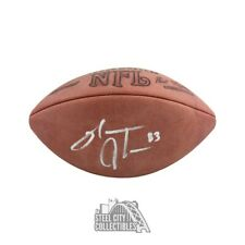 Sinorice Moss Autographed Official Game Football - BAS COA