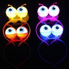 Alien Eyeball LED Hair Hoop Flashing Glow Headband Crown Heart Light Up Hairband