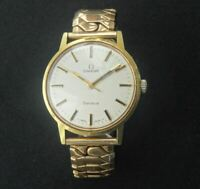 A GOOD VINTAGE GENTLEMAN'S OMEGA GENEVE AUTOMATIC WRISTWATCH,
