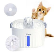 Dog Cat Automatic Pet Drinking Fountain, Ultra Quiet Water Dispenser Led Light