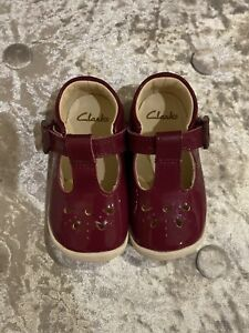 Clarks Toddler Girls Patent Leather Shoes Size 4H