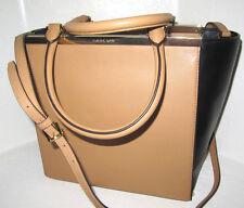 New Authentic Michael Kors Lana Suntan Black  Leather Large Tote Bag  NS NWT$398