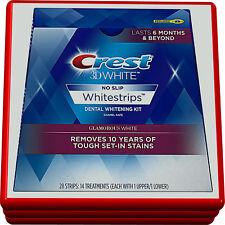 28 strips - Crest 3D White No Slip Whitestrip Glamorous White - New Sealed Box