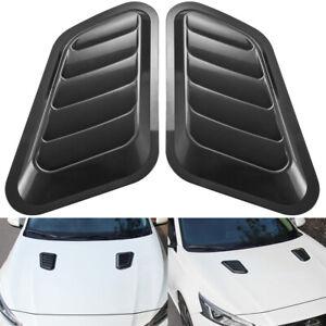 Universal Car Sticker ABS Decorative Air Flow Intake Bonnet Vent Hood Cover Blac