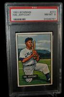 1951 Bowman - Hal Jeffcoat - #211 - PSA 8 - NM-MT