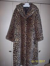 PAMELA McCOY  Full Length Leopard Cheetah Quality Faux Fur Coat - Size Medium