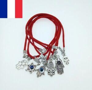 Lot de 10 X Bracelets Kabbale + Pendentif Porte Bonheur Cabbale Judaica