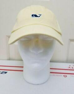 NEW Vineyard Vines Whale Logo Baseball Hat Strapback Light Yellow Lemonade Cream