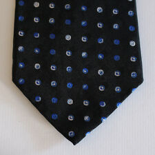 NEW Axist Silk Neck Tie Black with Blue and White Dots 1548