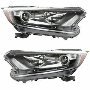 FITS FOR HONDA CR-V 2017 2018 2019 HEADLIGHT HALOGEN RIGHT & LEFT PAIR SET
