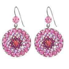 New Tarina Tarantino Mandala Circular Rose Pink Earrings