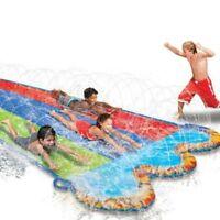 Banzai Triple Racer Water 3 Slide 16ft Fun Summer Play Game Backyard Splash Pool