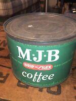 Vintage RareMJB Coffee Tin With Lid - 1 lb - Nice Condition
