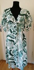 Johanna Ortiz X H&M Linen Midi Dress UK 16 US 12 EUR 44 Green Print BNWT Blogger