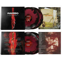Rambo Last Blood Motion Picture Vinyl Record Soundtrack 2 LP Black & Red Swirl