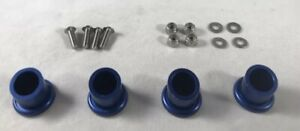 4 Boat Exhaust Tips Traxxas DCB M41 Spartan Proboat Pipes Blue