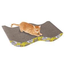 gatito del gato Rascar Cartón corrugado Rascador Pad Bed juguete Wave