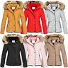 Designer Damen Winter Jacke Steppjacke Stepp Winterjacke Kapuze Kunstfell D-405