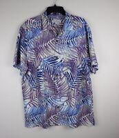 Tommy Bahama Hawaiian Shirt - San Juan Fronds -LT Sky - Floral -NWT