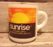 Nestlé Milk Glass Sunrise Instant Coffee Mug *Very Nice* HTF!