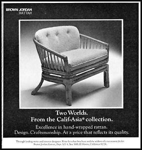 1979 Brown Jordan rattan Calif-Asia collection vintage photo Print Ad  ads28