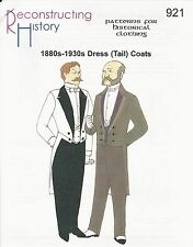 Schnittmuster RH 921 Paper Pattern 1880s-1930s Dress or Tail Coat