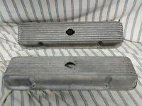 Cal Custom Rare 40-2200 Pontiac Aluminum Valve Covers, Finned, Natural Finish,