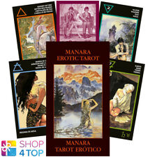 MANARA EROTIC MINI TAROT CARDS ORACLE ESOTERIC FORTUNE TELLING LO SCARABEO NEW