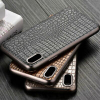 Case for iPhone x xr xs max Luxury Vintage leather and silicone phone case cover