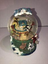 "Noahs Ark Music Box Snow Globe Singing in the Rain 6""x4.5�"