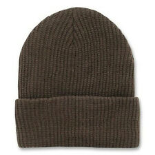 Brown Long Watch Cuffed Knit Beanie Ski Cap Caps Hat Hats