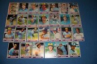 1979 Topps MILWAUKEE BREWERS Complete TEAM Set PAUL MOLITOR Robin YOUNT Free/Sh