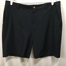 Columbia Titanium Black Shorts 38 Belted Pockets Omni Shade Summer Beach Golf