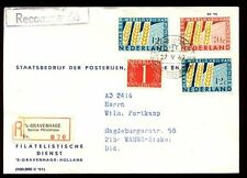 Netherlands 1963 Freedom From Hunger Set On Registered Cover #C5748