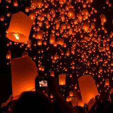 Hot Paper Chinese Lanterns Sky Fly Candle Lamp for Wish Party Wedding