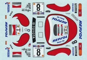 decals Rally Safary1/43-Toyota Celica Turbo 4WD  #8 92 Kankkunen Juha winner