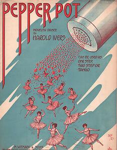 Pepper Pot 1913 Sheet Music