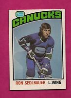 1976-77 OPC  # 271 CANUCKS RON SEDLBAUER  ROOKIE NRMT-MT CARD  (INV# 7652)