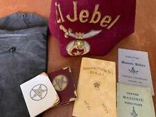 Vintage Shriner's El Jebel Fez Hat and Booklets