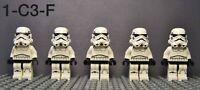Lego Star Wars Stormtrooper Minifigures Lot of 5 Dark Blue Vents w/ Blasters