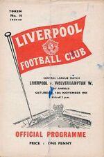 Liverpool Football Reserve Fixture Programmes (1950s)