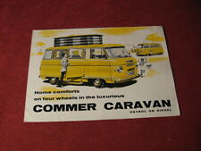 1962 Commer Caravan Bus Truck Sales Sheet Brochure Booklet Catalog Book Old