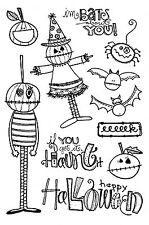 HALLOWEEN BATS YOU Clear Unmounted Rubber Stamps Impression Obsession CL696 NEW