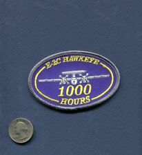 GRUMMAN E-2 C HAWKEYE 1000 FLIGHT HOURS US NAVY Squadron Flight Crew Patch